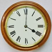 Antique English 8 Day Single Fusee Timepiece Walnut 15.5 Dial Wall Clock