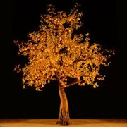Bright Baum Maple Led Artificial Tree 9ft Yellow Sienne Light Store Decor
