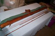 Walton Powell 4 Of 100 Ultimate Bamboo Fly Rod 2/3 In Signed Leather Case
