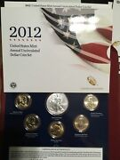 2012 Us Mint Annual Uncirculated Dollar Coin Set American Silver Eagle 6 Coins