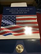 2007 Us Mint Annual Uncirculated Dollar Coin Set American Silver Eagle 6 Coins