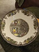 Johnson Bros Brown Transfer Large Bowl Dish 10 Inches- Merry Christmas. Gr/05