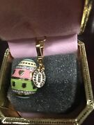 2008 Juicy Couture Limited Edition Easter Egg Charm With Yorkie Dog-new In Box