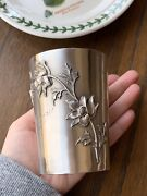 Magnolia Art Nouveau 950 Sterling Silver 116g Julep Wine Cup French Belle Epoque