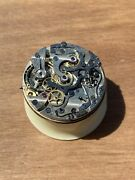 Lemania 15tl Monopusher Military Chronograph Movement Not Working For Parts