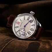 Precision - Anabiosis Vintage Swiss Pocket Watch On Wrist With Leather Strap