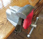 Vintage Millers Falls Usa Machinist Hobby Clamp Bench Vise W/ 2 1/2 Jaw