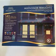 Holiday Time Multi Color Christmas Deco Chasing Lights Indoor String 33 Feet 140