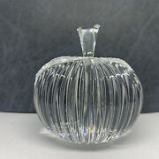 Waterford Crystal Apple Paperweight