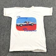 Rare Vintage 70s Benny Parsons Racing Nascar T Shirt S 72 First National Chevy