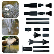 8pcs/kit Plastic Fountain Pump Nozzles Pond Submersible Pool Water Spray Heads