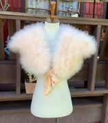 Nwt Christian Dior Marabou Feather Pink 1930s Glamour Shawl Stole Jacket S