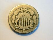 1870 Ag/g Shield Nickel, Nice Low Priced Better Date Coin For Any Collection