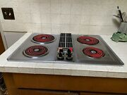 Vintage Jenn Air 30andrdquo Cooktop Electric Coils Downdraft Stainless -- Please Read