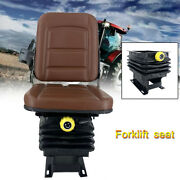 Universal Forklift Seat Tractor Seat Suspension Seat Lawn Garden Slidable Seat