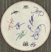 """Johnny Cash Signed Drumhead 14"""" Guitar Greats Willie Nelson Auto Hof +6 Sigs Jsa"""