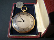 Rare French 18k Solid Gold Duplex Quarter Repeater Pocket Watch C.1830 / Box