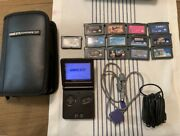 Nintendo Gameboy Advance Sp Ags-001 With 13 Games, Carrying Case, Charger Etc