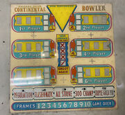Original Vintage Chicago Continental Bowling Arcade Marquee Sign 1970s 1980s