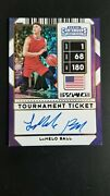 2020-21 Panini Contenders 1 Lamelo Ball  Auto Autograph 5 Of Only 5 Roy