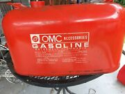 Vintage Omc Evinrude Johnson Outboard 6 Gallon Metal Boat Gas Tank Fuel Can Red