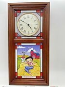 Betty Boop 4 Seasons Stained Glass Clock By Danbury Mint Lights Up