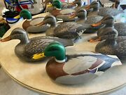Lot Of 11 Vintage 1967 D-9 Victor Duck Decoys Mfg. By Woodstream Co.
