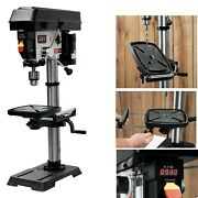 Drill Press Laser Variable Speed Bench Top Base Cast Iron Heavy Duty Shop Tool