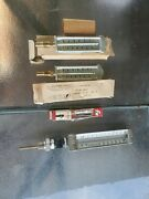 Lot Of 4 Vintage H-b Instrument Co Thermometer H. O. Trerice Co. And Fr Corp.
