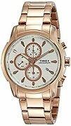 Timex Chronograph Rose Gold Dial Menand039s Watches _30255