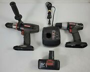 """Craftsman 19.2v 1/2"""" Hammer Drill 3/8 C3 Drill W/ Charger And Battery Lot Works"""