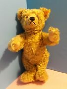 Steiff Classic Teddy Bear 14 Blonde Jointed W/ Growler Made In Germany W/eartag