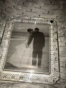 Waterford Lead Crystal Wedding Heirloom 139937 8 X 10 Hearts Picture Frame W/box