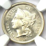 1886 Proof Three Cent Nickel Coin 3cn - Certified Ngc Pr67 Cameo - 2150 Value