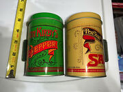 Vintage Elton Kirbyand039s Percival Duffinand039s Salt And Pepper Shakers Decorative Tins