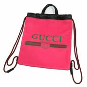 Secondhand Small Drawstring Backpack 523586 Pink