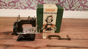Vintage Singer Sewhandy Model 20 Childand039s Sewing Machine And Box - Ex. Condition