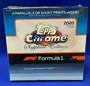 2020 Topps Chrome Formula 1 F1 Sapphire Factory Sealed Hobby Box In Hand
