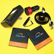 High Power 2x 5600mah Battery Car Charger Stylus For Samsung Galaxy S4 Sch-i545