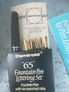 Osmiroid'65'fountain Penlettering Setfountain Penwith Six Assorted Nibs