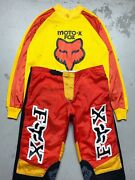 Vintage 1994 Fox Racing 20th Anniversary Motocross Jersey And Pants Set Large 36