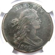 1802 Draped Bust Large Cent 1c Coin - Certified Ngc Xf40 Ef40 - 1300 Value