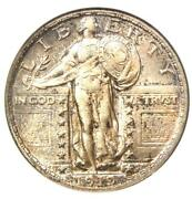 1919-d Standing Liberty Quarter 25c Coin - Certified Anacs Au58 - Rare Date