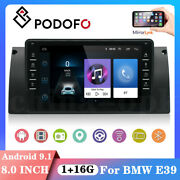 8 Inch Android 9.1 Car Radio Stereo Gps Bluetooth Wifi Mp5 Player For Bmw E39