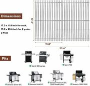 2 Pack Cooking Grates 7639 Grill Replacement For Weber Spirit 300 E310 E320