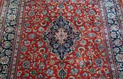 Superb 100 Silk Signed Floral Hand Knotted Oriental Rug Cleaned 4and0394 X 7and039