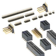 Smd Pcb Pin Header Male Female Connector 1.27mm Double Row Straight Pins Arduino