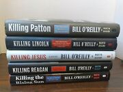 Lot Of 5 Killing Books By O'reilly Hb Jesus, Rising Sun, Lincoln, Reagan, Patton