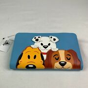 Loungefly Disney Parks Dogs Wallet Clutch Blue Credit Card Pluto Dalmatians Lady