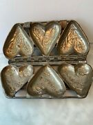 Vintage Heart Shaped Valentine Chocolate Mold Pre-owned